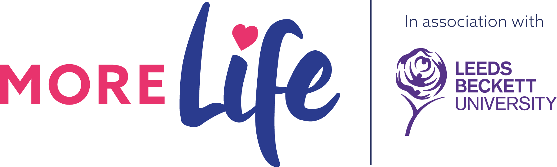 MoreLife in association with Leeds Beckett Logo