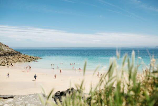 Sunny day on Cornwall beach